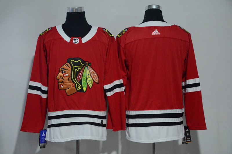 Men Chicago Blackhawks Blank Red Hockey Stitched Adidas NHL Jerseys