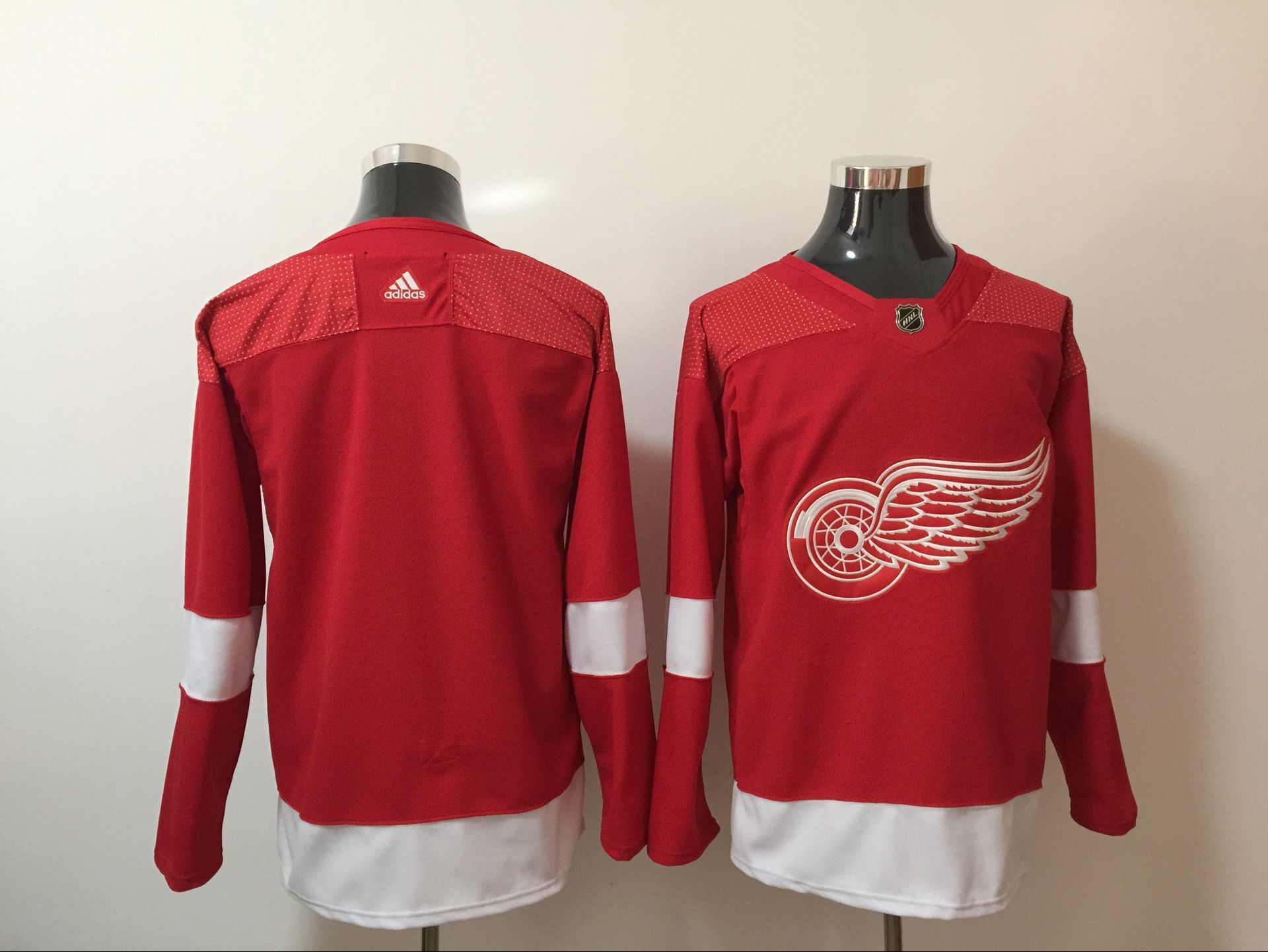Men Detroit Red Wings Blank Red Hockey Stitched Adidas NHL Jerseys