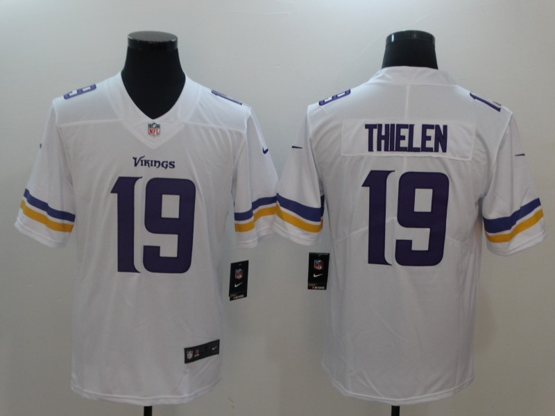 Men Minnesota Vikings 19 Thielen White Nike Vapor Untouchable Limited NFL Jerseys