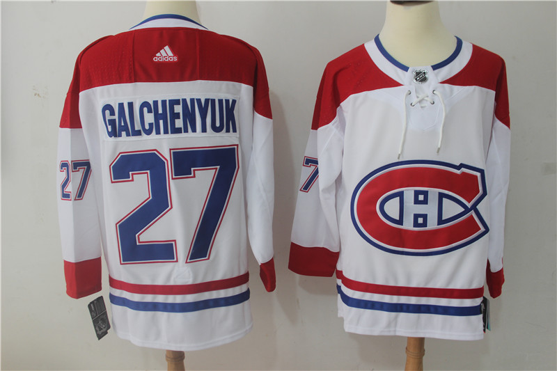 a73d3cca866 Men Montreal Canadiens 27 Galchenyuk White Hockey Stitched Adidas NHL  Jerseys