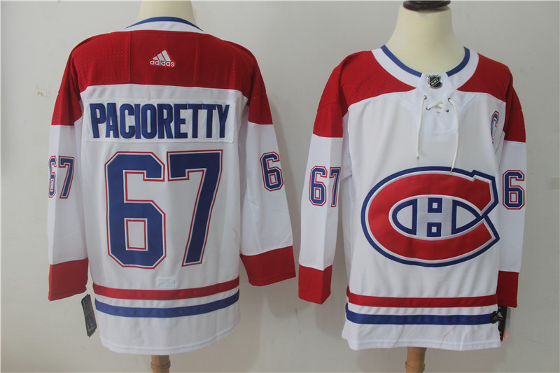 6d72eac91 Men Montreal Canadiens 67 Pacioretty White Hockey Stitched Adidas NHL  Jerseys