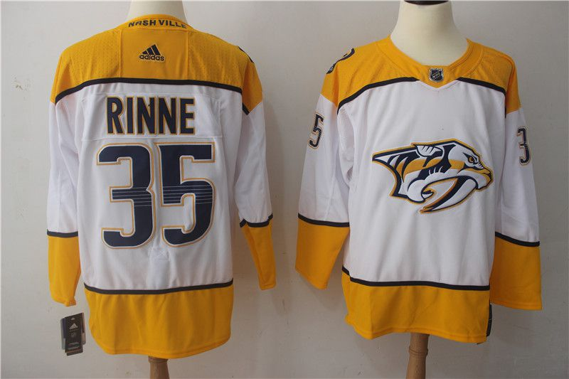 Men Nashville Predators 35 Rinne white Hockey Stitched Adidas NHL Jerseys