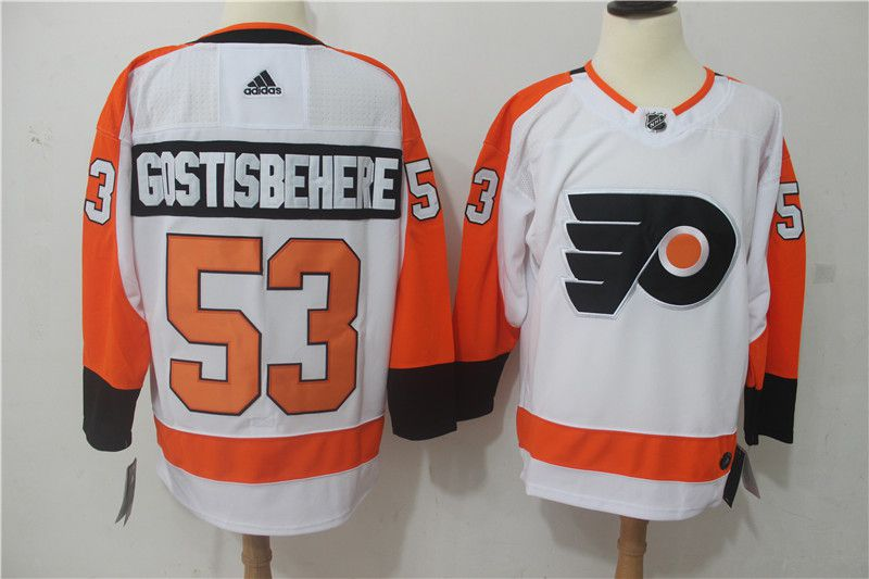 Men Philadelphia Flyers 53 Gostisbehere white Hockey Stitched Adidas NHL Jerseys
