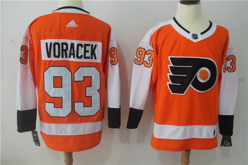 Men Philadelphia Flyers 93 Voracek Orange Hockey Stitched Adidas NHL Jerseys
