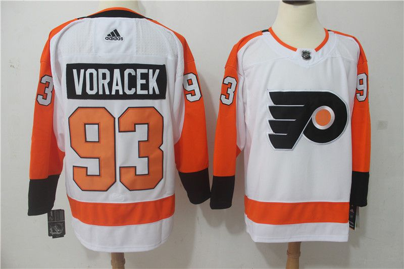 Men Philadelphia Flyers 93 Voracek white Hockey Stitched Adidas NHL Jerseys
