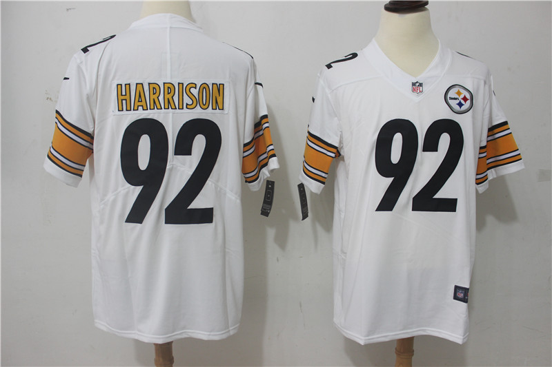 Men Pittsburgh Steelers 92 Harrison White Nike Vapor Untouchable Limited NFL Jerseys