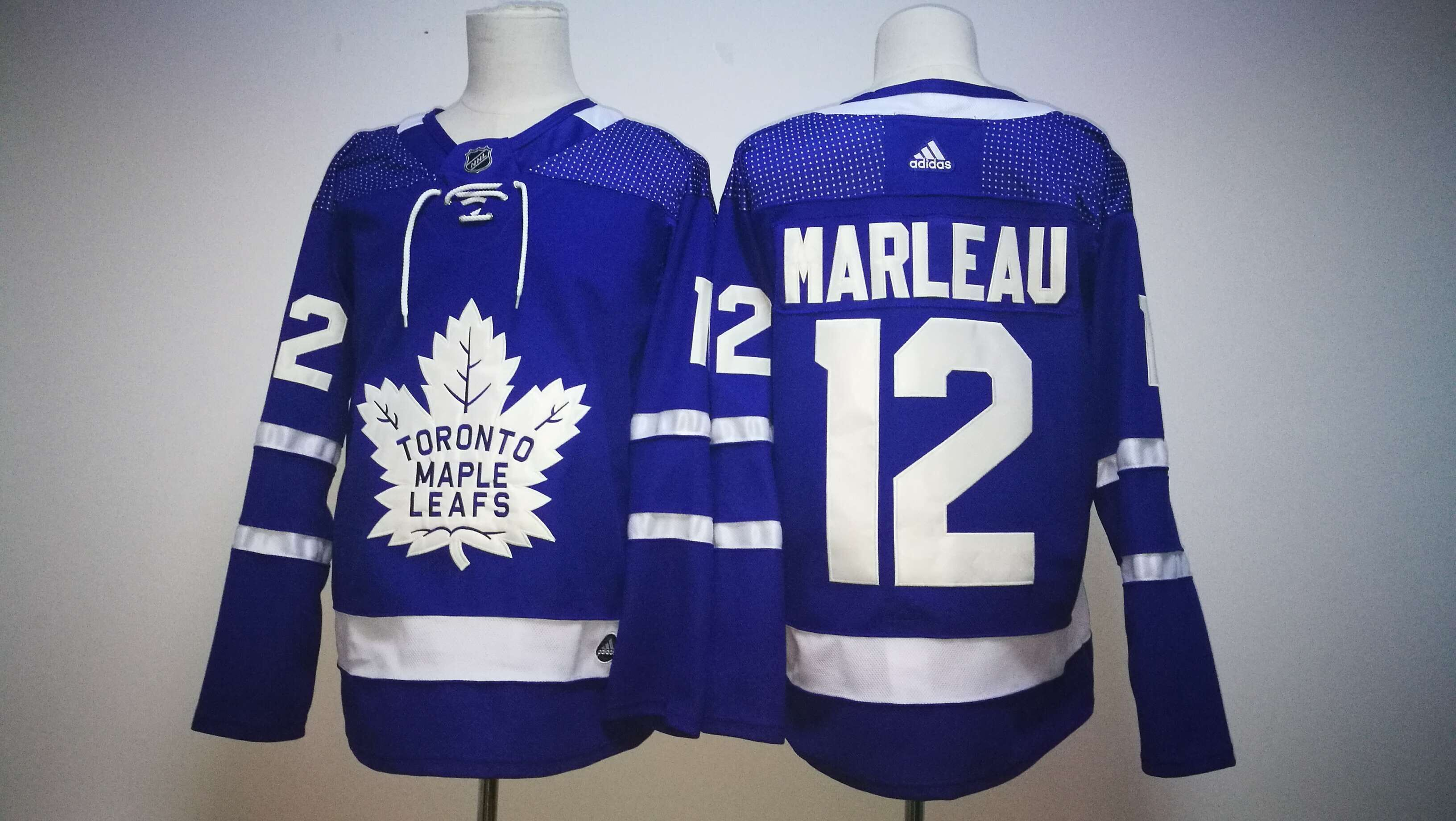 Men Toronto Maple Leafs 12 Marleau Blue Hockey Stitched Adidas NHL Jerseys
