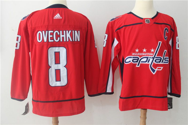 Men Washington Capitals 8 Ovechkin red Adidas Hockey Stitched NHL Jerseys
