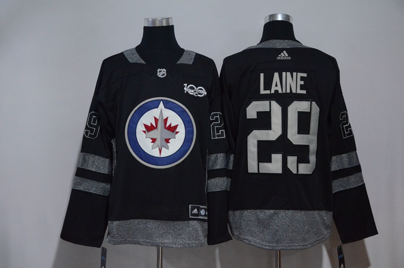 Men Winnipeg Jets 29 Patrik Laine Black Hockey Stitched Adidas NHL Jerseys