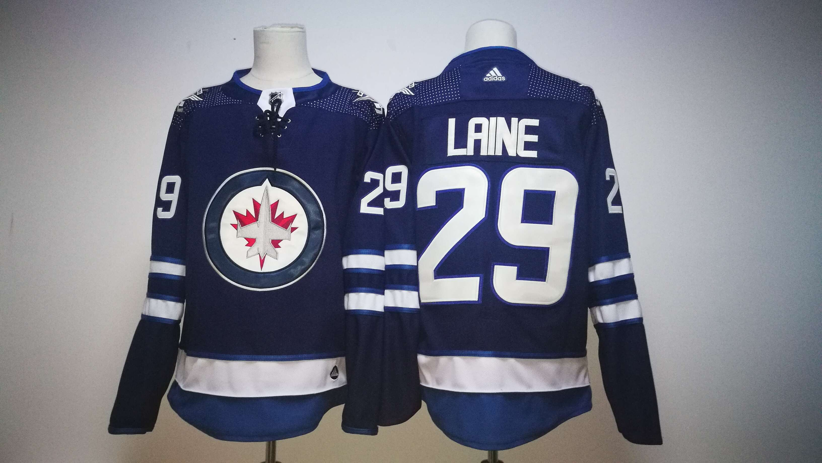 Men Winnipeg Jets 29 Patrik Laine Blue Hockey Stitched Adidas NHL Jerseys