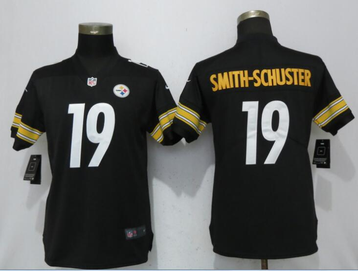 Women Pittsburgh Steelers 19 Smith-schuster Black Nike Vapor Untouchable Limited NFL Jerseys