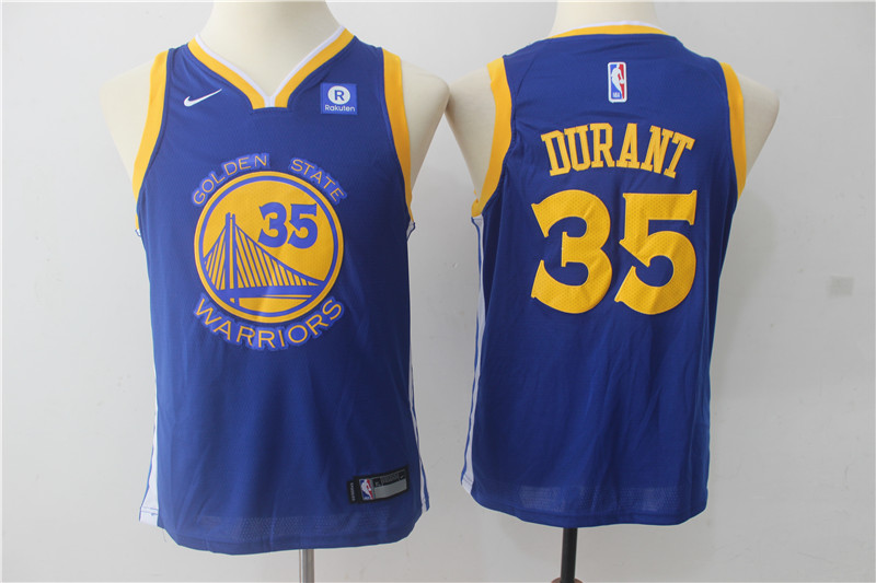 Youth Golden State Warriors 35 Durant Blue Game Nike NBA Jerseys