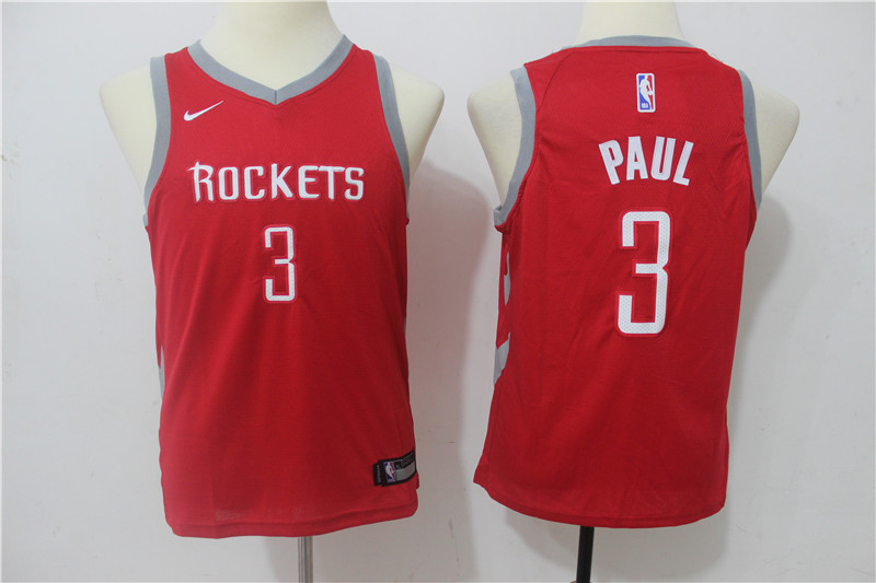 Youth Houston Rockets 3 Paul Red Game Nike NBA Jerseys