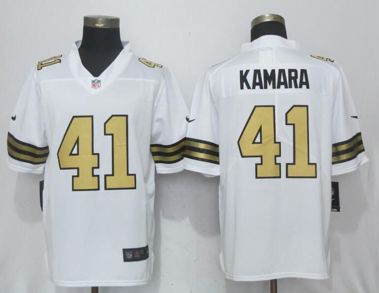 2017 Men New Nike New Orleans Saints 41 Kamara Navy White Color Rush Limited Jersey
