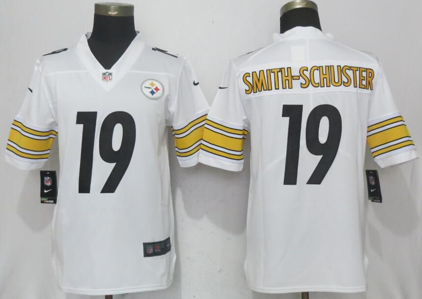 2017 Men New Nike Pittsburgh Steelers 19 Smith-schuster Watt Whate 2017 Vapor Untouchable Limited jersey