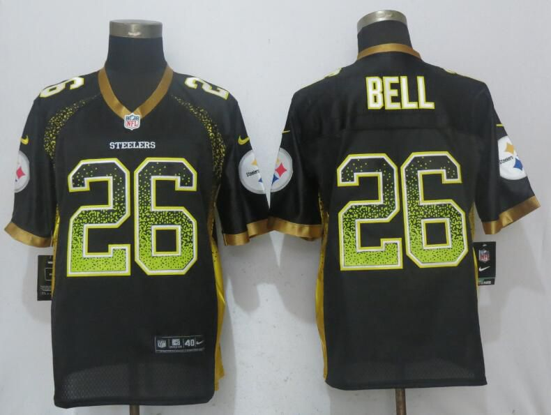 2017 Men New Nike Pittsburgh Steelers 26 Bell Drift Fashion Black Elite Jersey