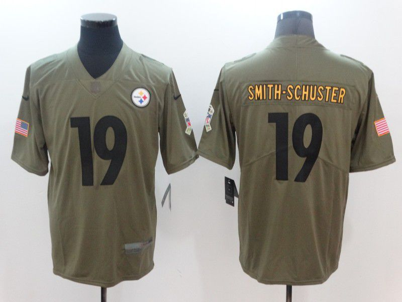 2017 Men Nike Pittsburgh Steelers 19 Smith-schuster green limited NFL jersey