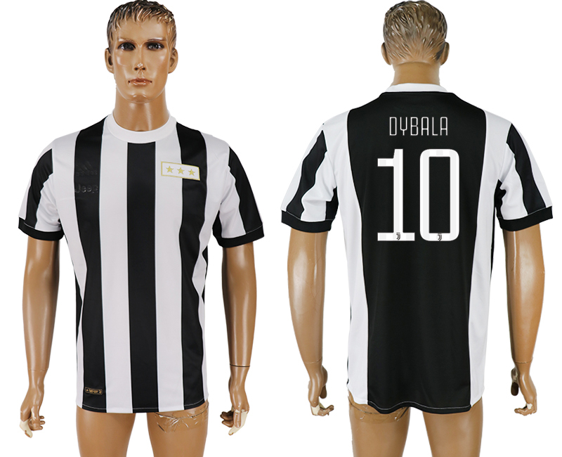 Men 2017-2018 club Juventus aaa version 10 black 120th anniversary commemorative soccer jersey