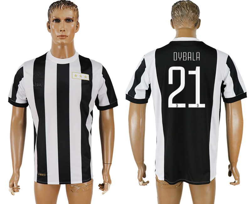 Men 2017-2018 club Juventus aaa version 21 black 120th anniversary commemorative soccer jersey