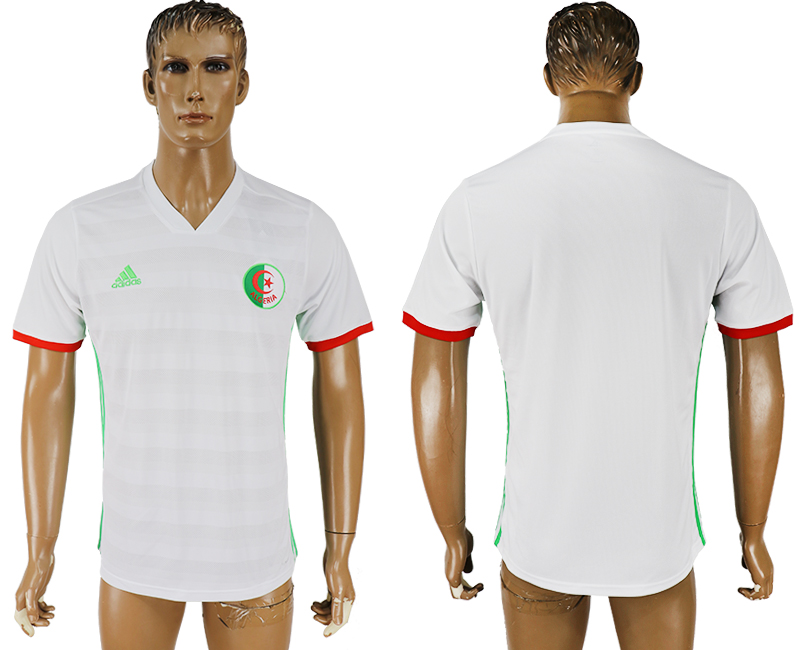 Men 2018 World Cup National Algeria home aaa version white soccer jersey
