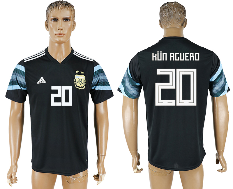 Hommes 2018 Coupe du Monde National Argentine away aaa version 20 black soccer jersey1