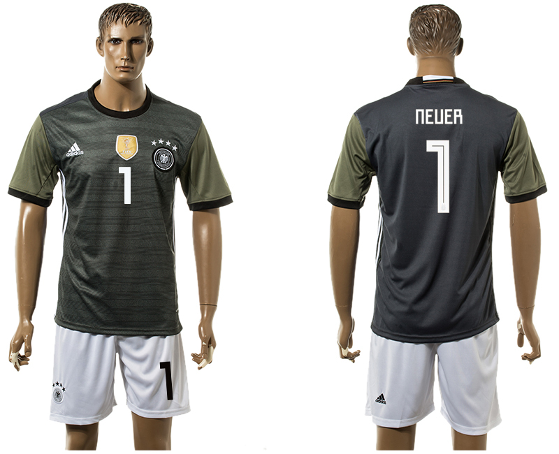Men 2018 World Cup National Germany away 1 black soccer jersey