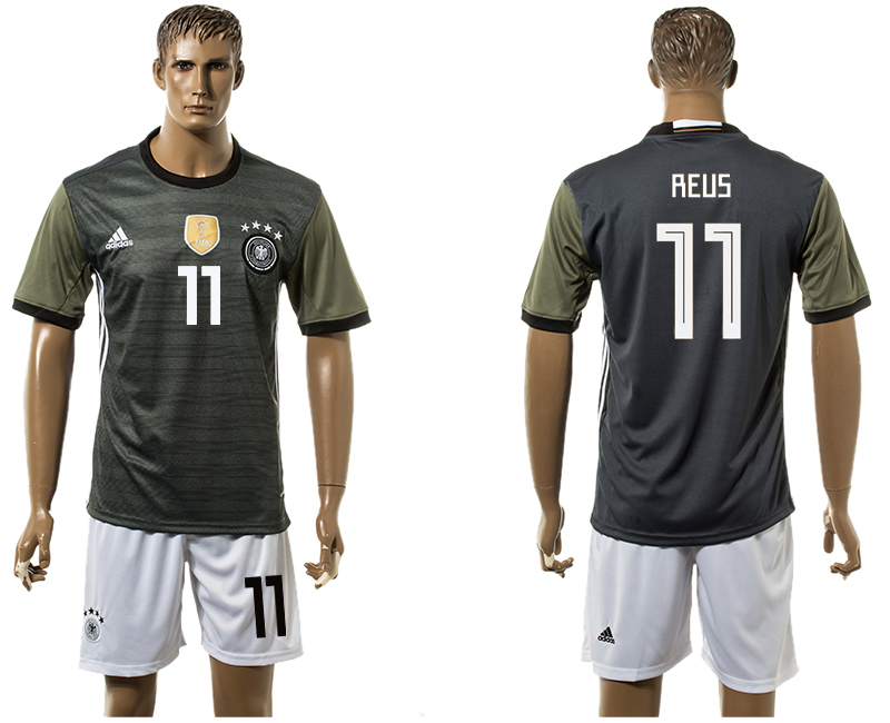 Men 2018 World Cup National Germany away 11 black soccer jersey