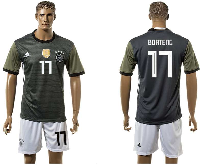 Men 2018 World Cup National Germany away 17 black soccer jersey