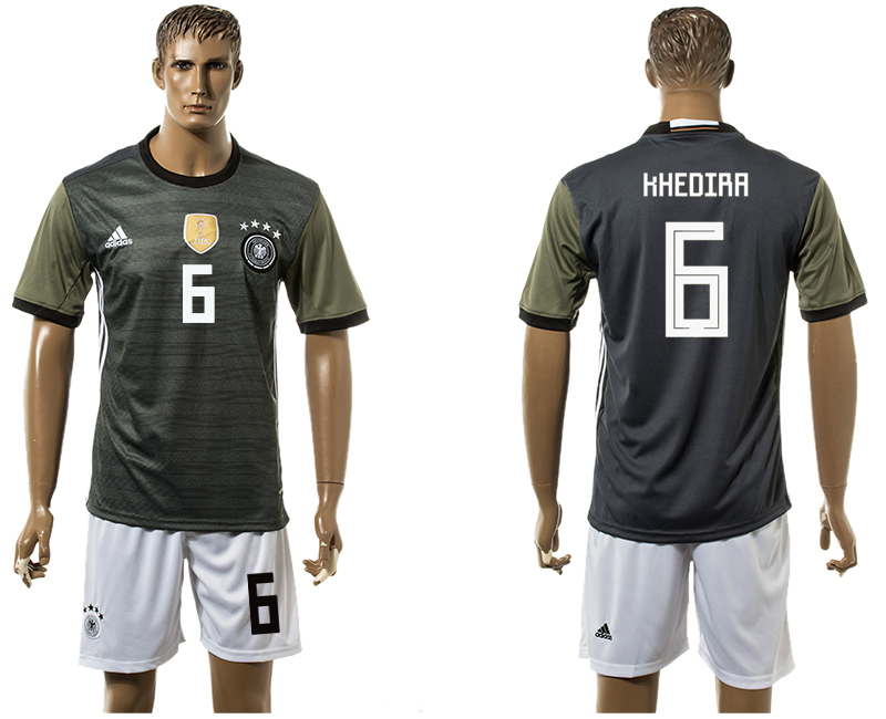 Men 2018 World Cup National Germany away 6 black soccer jersey