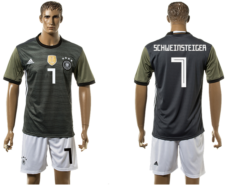 Men 2018 World Cup National Germany away 7 black soccer jersey