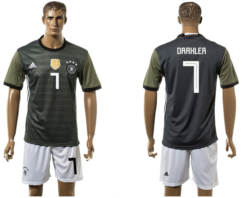 Men 2018 World Cup National Germany away 7 black soccer jersey1