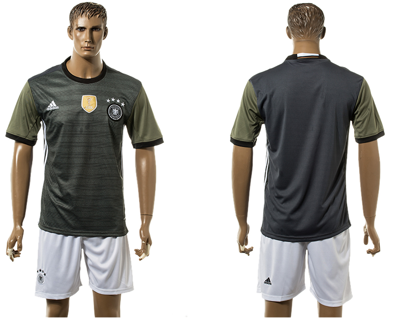 Men 2018 World Cup National Germany away black soccer jersey