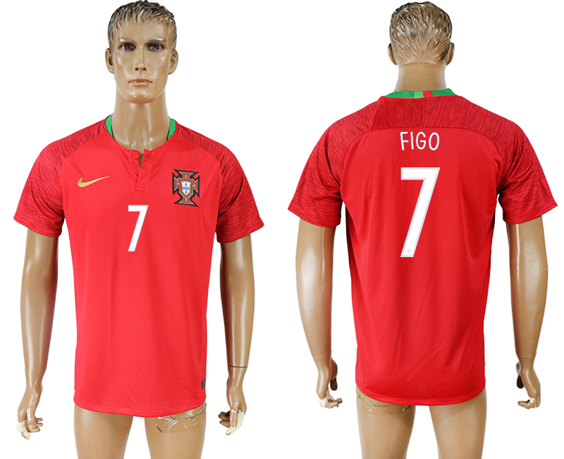 Men 2018 World Cup National Portugal home aaa version 7 red soccer jersey1
