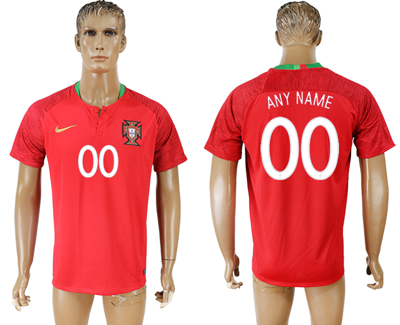 Men 2018 World Cup National Portugal home aaa version customized red soccer jersey