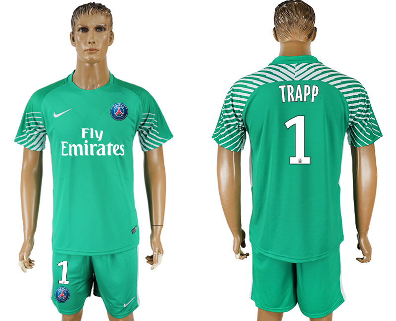 Men 2018 World Cup Paris saint germain green goalkeeper 1 soccer jersey