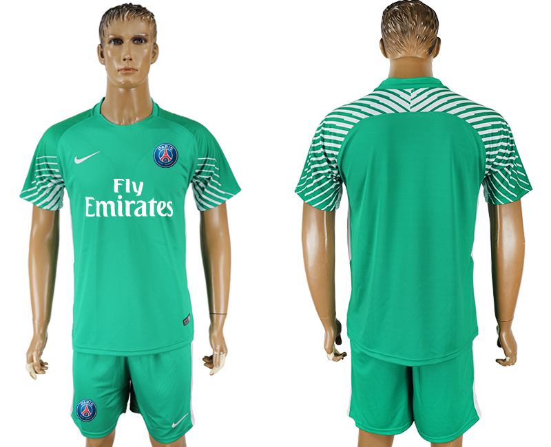 Men 2018 World Cup Paris saint germain green goalkeeper soccer jersey