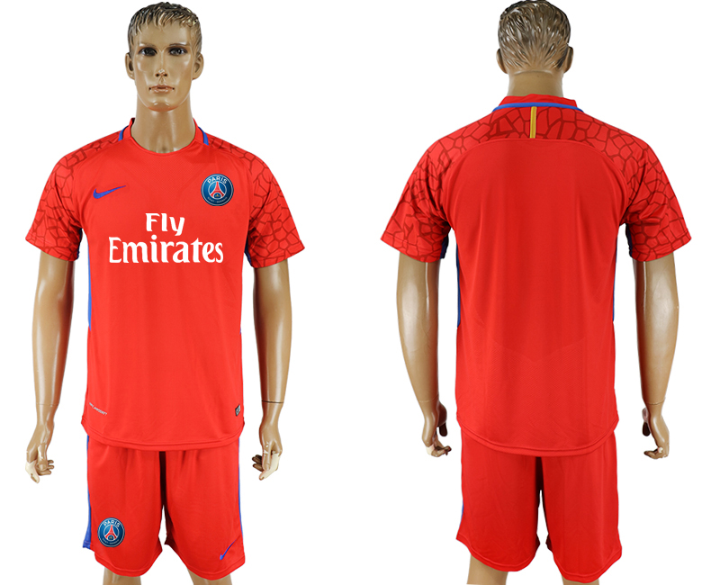 Men 2018 World Cup Paris saint germain red goalkeeper soccer jersey