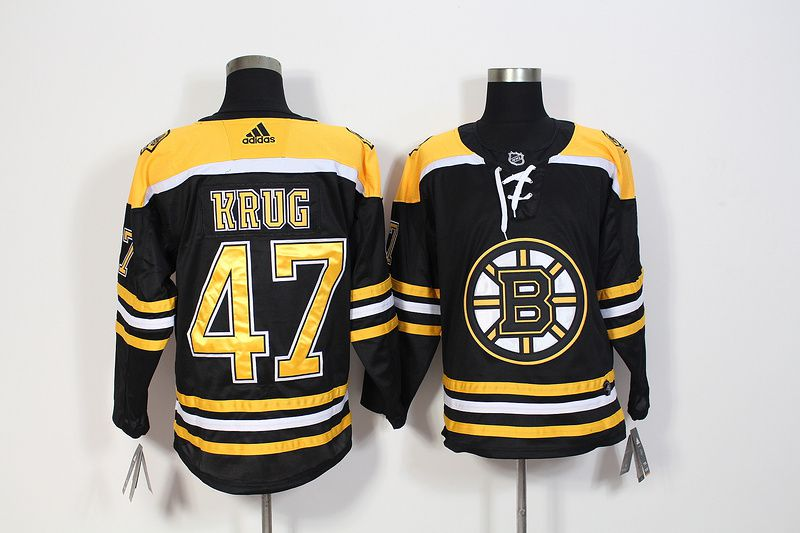 Men Boston Bruins 47 Krug Black Hockey Stitched Adidas NHL Jerseys