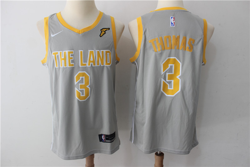 Men Cleveland Cavaliers 3 Thomas Grey New Nike Season NBA Jerseys