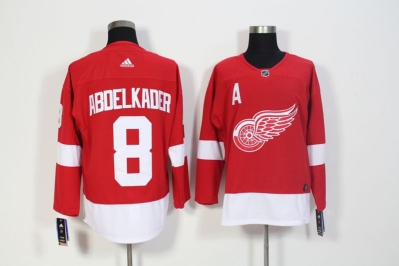 Men Detroit Red Wings 8 Abdelkader Red Hockey Stitched Adidas NHL Jerseys