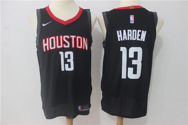 Men Houston Rockets 13 Harden Black Game Nike NBA Jerseys