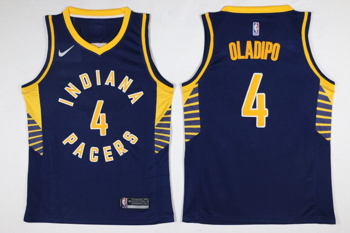 Men Indiana Pacers 4 Oladipo Blue Nike NBA Jerseys