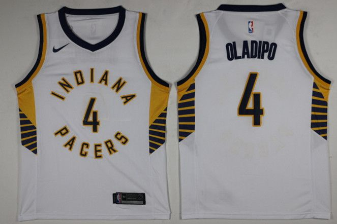 Men Indiana Pacers 4 Oladipo White Nike NBA Jerseys