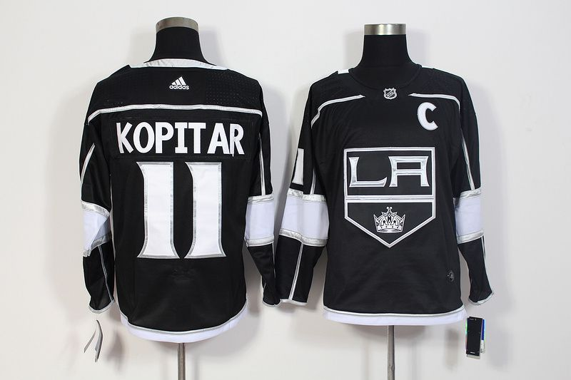Men Los Angeles Kings 11 Kopitar Black Hockey Stitched Adidas NHL Jerseys