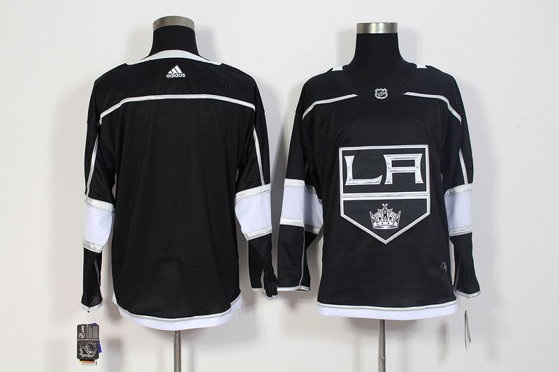 Men Los Angeles Kings Blank Black Hockey Stitched Adidas NHL Jerseys