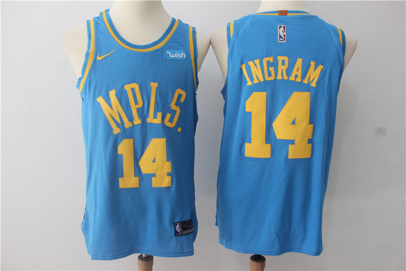 Men Los Angeles Lakers 14 Ingram Blue Game Nike NBA Jerseys