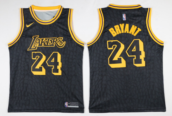 Men Los Angeles Lakers 24 Bryant Black Game Nike NBA Jerseys1