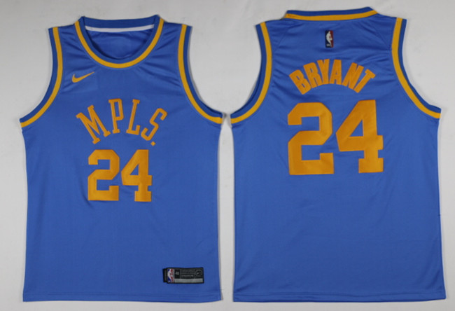 Men Los Angeles Lakers 24 Bryant Blue Game Nike NBA Jerseys