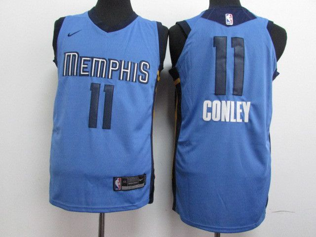 Men Memphis Grizzlies 11 Gonley Blue Nike NBA Jerseys