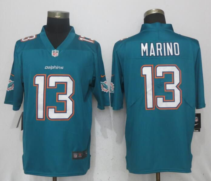 Men Miami Dolphins 13 Marino Green 2017 Vapor Untouchable Limited Player NFL Jerseys